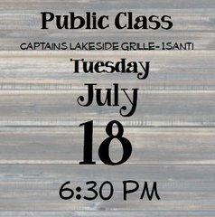 07-18 Public Class - Captain's 6:30 pm