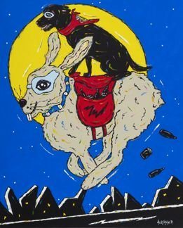 Hare Of The Dog - Black Labrador Retriever