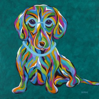 """It's All About Me, Dachshund - Metal Print, SIZE 12"""" sq."""