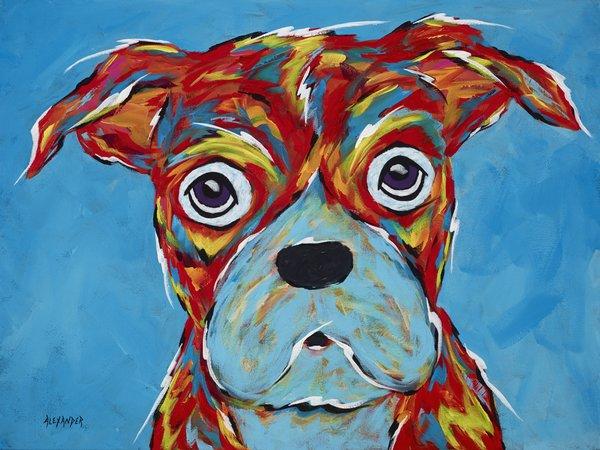 """I'm Still A Good Dog - Boxer Metal Print, SIZE 11"""" h x 14"""" w"""
