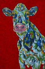 Pondering The Udder Side - Cow