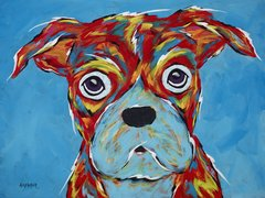 "I'm Still A Good Dog - Boxer Metal Print, SIZE 11"" h x 14"" w"