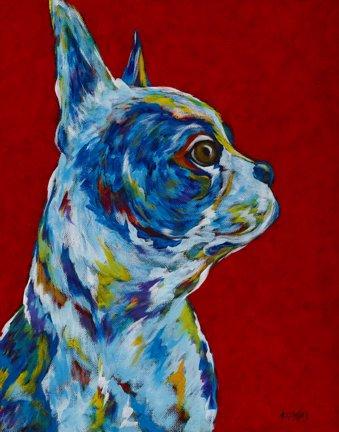 "Keeper Of My Peeps - Boston Terrier, French Bulldog METAL PRINT SIZE 11"" X 14"""