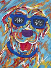"If You're Happy & You Know It - Labrador Retriever Metal Print, SIZE 11"" W X 14"" H"