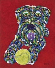 "Come And Get It - Schnauzer Metal Print SIZE 11"" x 14"""