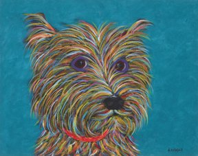 """Hand Over The Goodies - Terrier Metal Print, SIZE 11"""" h x 14"""" w"""