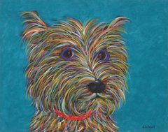 "Hand Over The Goodies - Terrier Metal Print, SIZE 11"" h x 14"" w"