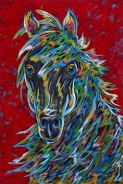 "Untamable - Horse Metal Print, SIZE 24"" w x 36"" h"