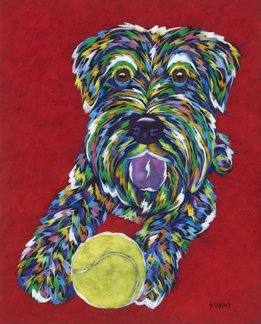 """Come And Get It - Schnauzer Metal Print SIZE 11"""" x 14"""""""