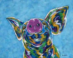 """I Nose I Can... - Pig METAL PRINT SIZE 11"""" X 14"""""""