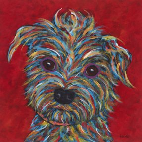 """It's All About Me, Terrier - Metal Print, SIZE 10"""" sq"""