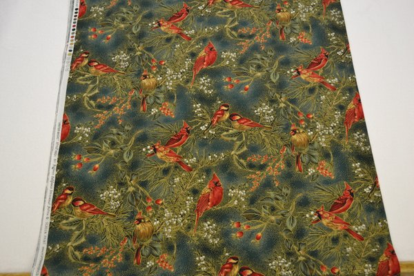 Green Hoffman Cardinals (Large) | Uniquely Yours Quilt Shop : uniquely yours quilt shop - Adamdwight.com