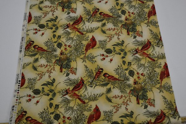 Cream Hoffman Cardinals (Large) | Uniquely Yours Quilt Shop : uniquely yours quilt shop - Adamdwight.com