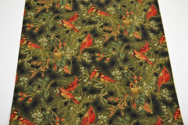 Black Hoffman Cardinals (Large) | Uniquely Yours Quilt Shop : uniquely yours quilt shop - Adamdwight.com