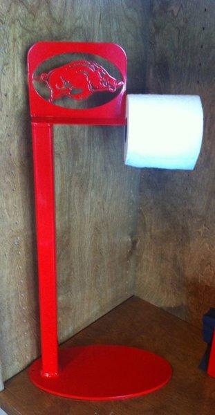 Razorback Standing Toilet Paper Holder Metal Creations Custom
