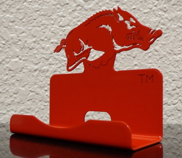 Razorback business card holder metal creations custom designs razorback business card holder reheart