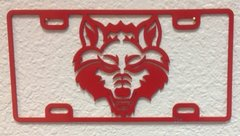 Red Wolf License Plate