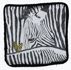ZEBRA THROW PILLOW fom Patterns in nature zebra and butterfly