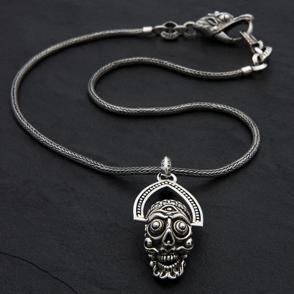 56. TibetanSkull/SterlingSilver/Necklace