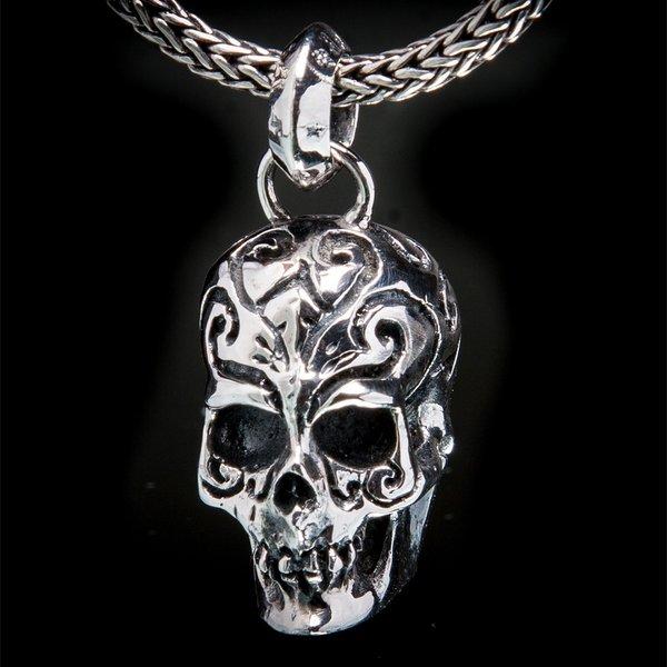 65. TattooSkull/SterlingSilver/Pendant