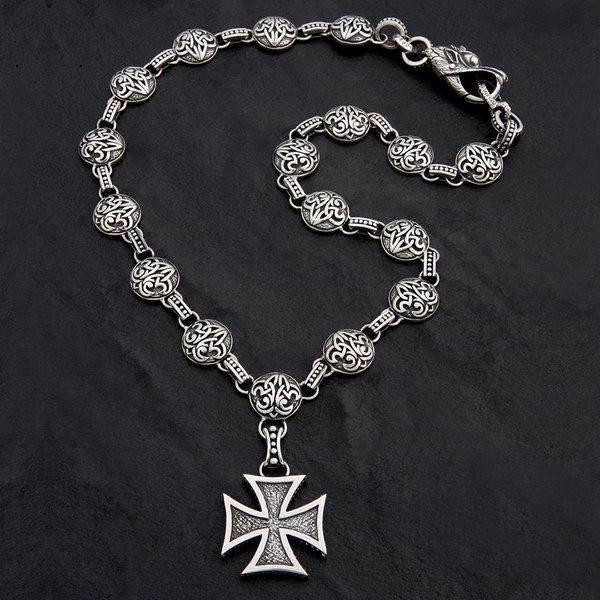 76. MalteseCross/FleurdeLis/SterlingSilver/Necklace