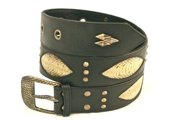Yellow Snake - Leather Belt - 1F