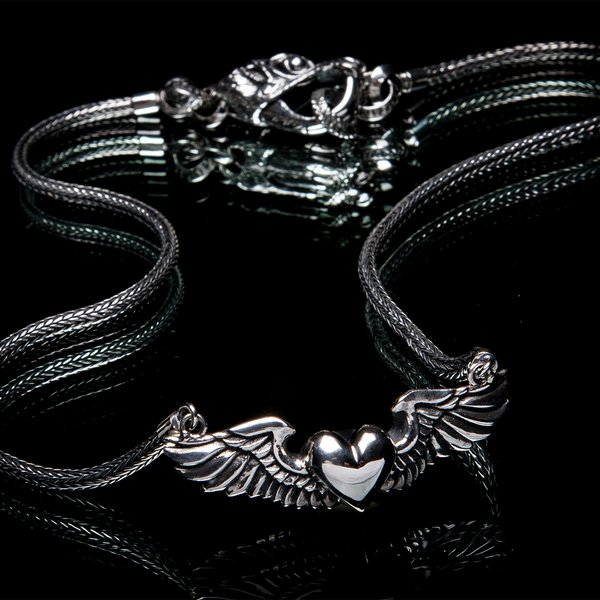 63. HeartwithWings/SterlingSilver/Necklace