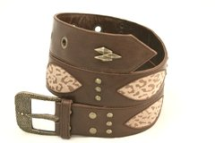 Cheetah Print - Leather Belt - 1I