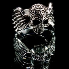 60. Skull with Wings - Sterling Silver/Ring