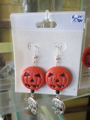 Halloween Earrings - Pumpkin and skulls