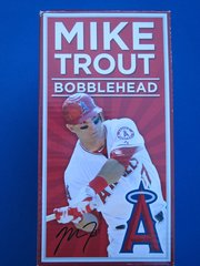 Anaheim Angels Mike Trout Catching over wall bobblehead
