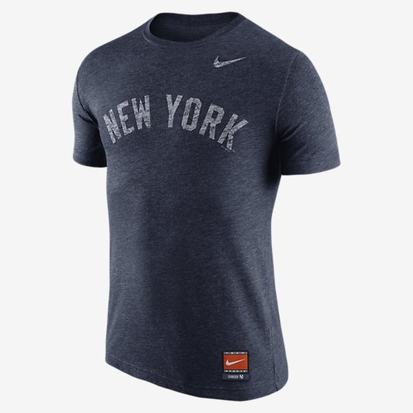Nike mlb cp tri wordmark new york yankees t shirt pure for Kicks on fire t shirt