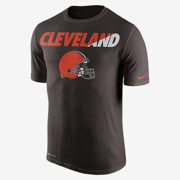 Nike nfl legend staff practice cleveland browns t shirt for Kicks on fire t shirt