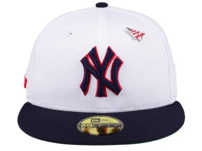 5a63f0efbee New Era MLB 59FIFTY Paper Plane X Americana New York Yankees Fitted Cap