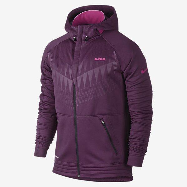 Mens Nike Lebron Ultimate Hyper Elite Mulberry/Vivid Purple/Black Basketball Hoodie