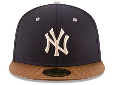 New Era MLB 59FIFTY Leather Banner Patch New York Yankees Fitted ... 52893e6f759
