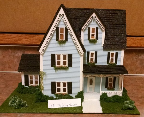 Victorian house kit checkmouse miniatures for Victorian style kit homes