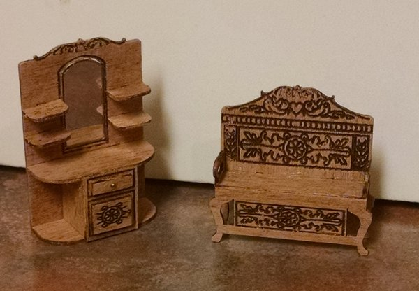 Entry Hall Furniture victorian entry hall furniture kit | checkmouse miniatures