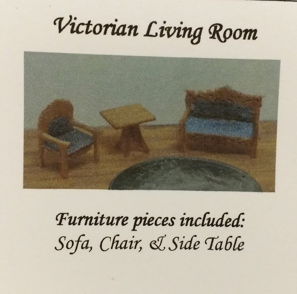 Micro Victorian Living Room Furniture Kit | CheckMouse Miniatures