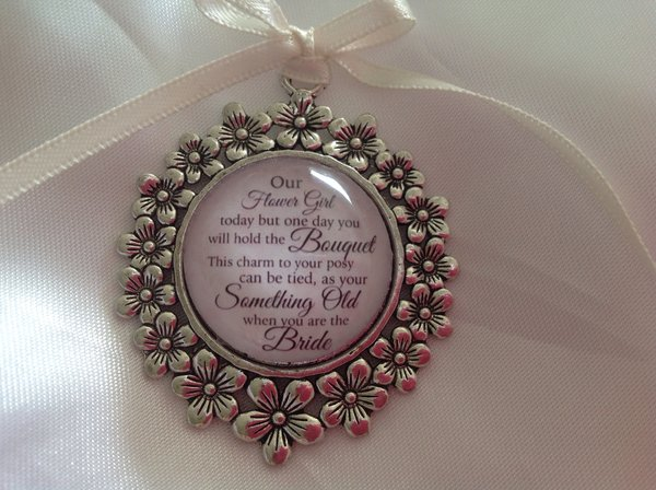 flower girl bridesmaid bouquet charm