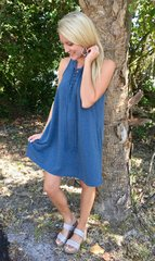 Z Supply All Tied Up Dress (Blue)