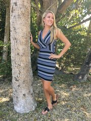 Molly Bracken Bodycon Stripe Dress