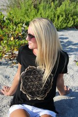 Seeds of Life Mandala Print Short Sleeve Top