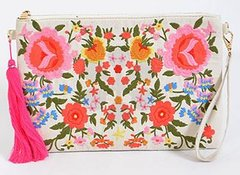 Rose Garden Embroidered Clutch