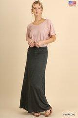 Basic Maxi Skirt (Charcoal)