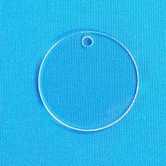 "Clear Round Acrylic Blanks 3"" diameter 1/8"" Thick - 1 piece"