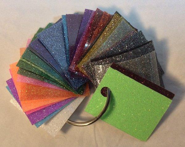 Siser Glitter Htv Color Sample Kraftastic Creations Llc