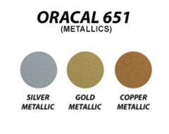 "Oracal 651 metallics - 12"" x 10 yard roll"