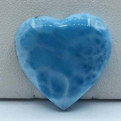 Larimar Heart 7.1g Grade AA Color AAA+ Volcano Blue