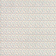 Essentially Yours White Multi Blue Mini Dots by Moda Fabrics, 100% Premium Cotton by the Yard